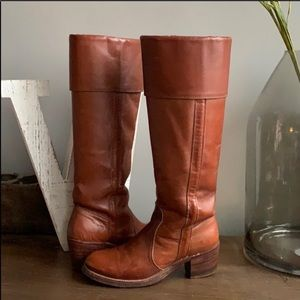 FRYE USA 8515 tall Cuff Campus Leather Boot 6.5